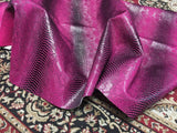 FAUX LEATHER VIPER SOPYTHANA EMBOSSED SNAKE SKIN VINYL LEATHER FABRIC UPHOLSTERY FUCHSIABLACK