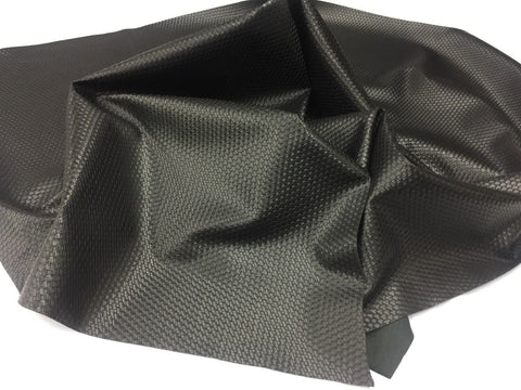 FAUX LEATHER LATTICE BASKET WEAVE UPHOLSTERY VINYL FABRIC Black BY THE YARD PU LEATHER