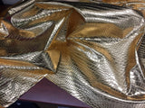 FAUX LEATHER SHINY CROCODILE EMBOSSED FAUX LEATHER VINYL FABRIC GOLD BY YARD
