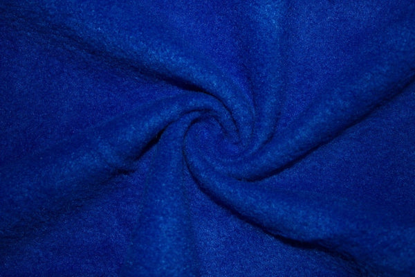 Anti Pill Polar Fleece Solid Sold By The Yard Royal Blue