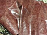 FAUX LEATHER BIG NILE CROCODILE LEATHER VINYL FABRIC EMBOSSED UPHOLSTERY ALLIGATOR BY YARD