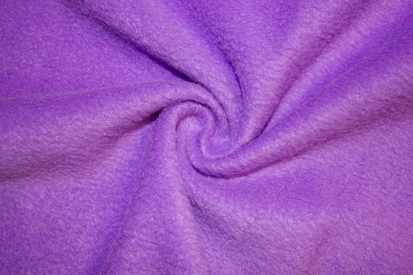 Anti Pill Polar Fleece Solid Sold By the Yard Violet
