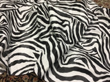"FAUX LEATHER VINYL FAUX FAKE LEATHER PLEATHER EMBOSSED ZEBRA FABRIC - White/Black - 54"" WIDTH"