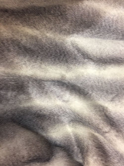 Luxurious Faux Fur Fabric Animal Mix Beige Grey. Sold By the yard