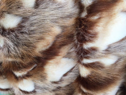 Luxurious Faux Fur Fabric Animal Design Multicolor.Sold By the yard