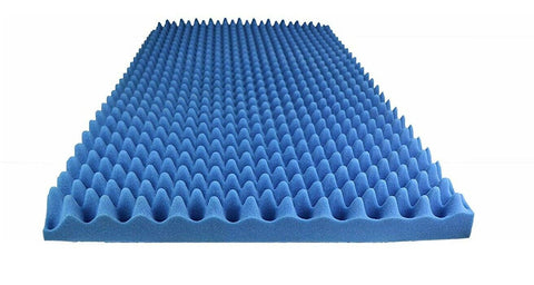 "BLUE SOUNDPROOF FOAM PROFESSIONAL ACOUSTIC 48"" X 96"" X 2"" CONVOLUTED FOAM SHEETS. ( 1 SET OF 2 )"