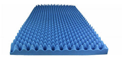 "BLUE SOUNDPROOF FOAM PROFESSIONAL ACOUSTICS FOAM 2.5"" ACOUSTIC FOAM EGG CRATE - 2-1/2"" X 72"" X 80"" COVERS 40SQ FT"