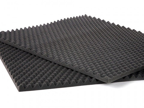 Soundproof Foam 2 PK Egg Crate Soundproofing Acoustic Wedge Foam Tiles Wall Panels 2.5 x 18 x 24