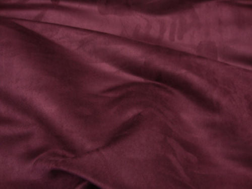Suede Wine Polyester microfiber solid faux upholstery drapery apparel by yard