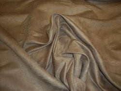 "FAUX LEATHER Camel Polyester micro faux suede upholstery fabric by the yard 60"" Wide"