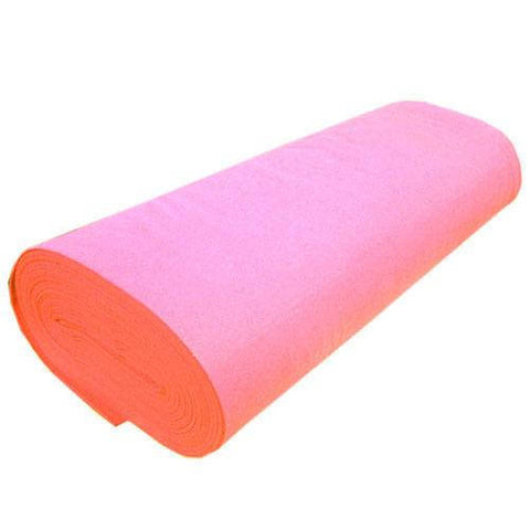 "FELT NEEDLE FELTING Professional Acoustics Solid Acrylic Felt Fabric -PINK- Sold By The Bolt - 72"" Width ( 20 yards )"