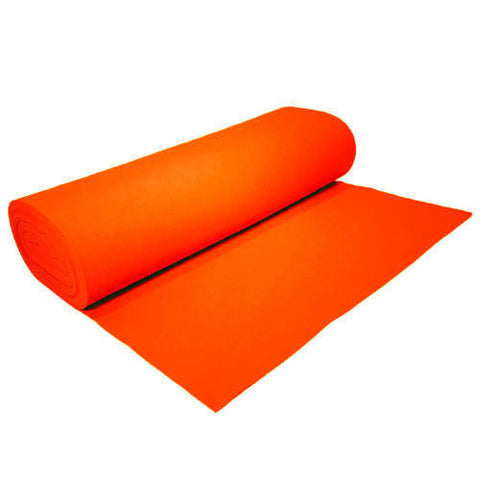 "FELT NEEDLE FELTING Professional Acoustics Solid Acrylic Felt Fabric -ORANGE - Sold By The Bolt - 72"" Width 20 yards"