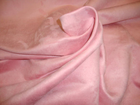 "FAUX LEATHER Pink Polyester micro faux suede upholstery fabric by the yard 60"" Wide"