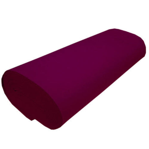 "FELT NEEDLE FELTING Professional Acoustics Solid Acrylic Felt Fabric -BURGUNDY - Sold By The Bolt 72"" Width 20 yards"