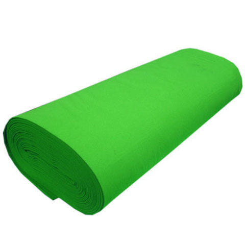 "FELT NEEDLE FELTING Professional Acoustics Solid Acrylic Felt Fabric - LIME - Sold By The Bolt - 72"" Width ( 20 yards )"