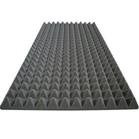 "Soundproof Foam Acoustic Foam Sound Absorption Pyramid Studio Treatment Panel 48""X24""X2"""