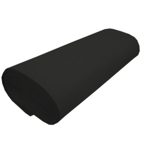 "FELT NEEDLE FELTING Professional Acoustics Solid Acrylic Felt Fabric -BLACK - Sold By The Bolt - 72"" Width ( 20 yards )"
