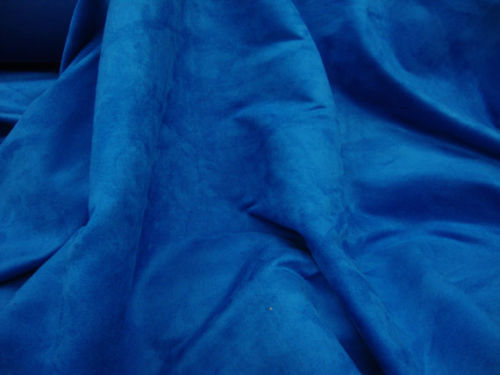 "58"" Wide Royal Polyester micro faux suede upholstery fabric by the yard"