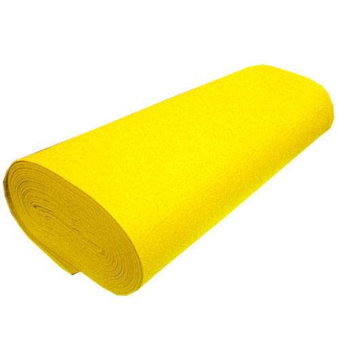 "FELT NEEDLE FELTINGProfessional Acoustics Solid Acrylic Felt Fabric -YELLOW - Sold By The Bolt - 72"" Width 20 yards"