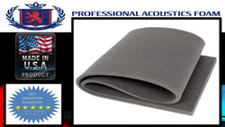 "Soundproof Foam Professional Acoustics Foam 1""x24""x82"" Upholstery Rubber Foam Sheet Cushion (Seat Replacement, Foam Padding) Charcoal"