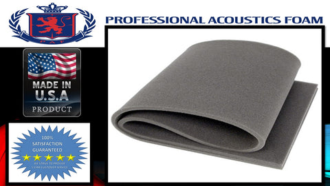 Soundproof Foam Professional acoustics foam 18 x 20.5 x 1/2 Gun Case foam flat Charcoal
