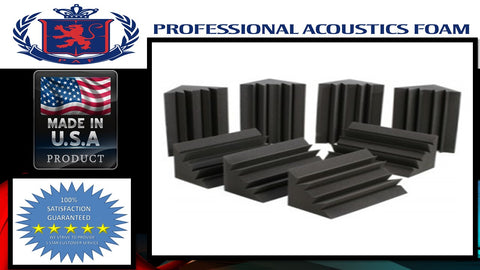 "Soundproof Foam Professional Acoustic Foam Bass Trap Studio Soundproofing Corner Wall 12"" X 12"" X 12"" (8 PACK)"