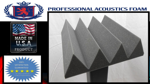 "Soundproof Foam Acoustic Foam Lg 24 Pack Kit - Wedge 3"" 12"" x 12"" covers 24sq Ft - SoundProofing/Blocking/Absorbing Acoustical Foam - Made in the USA!"