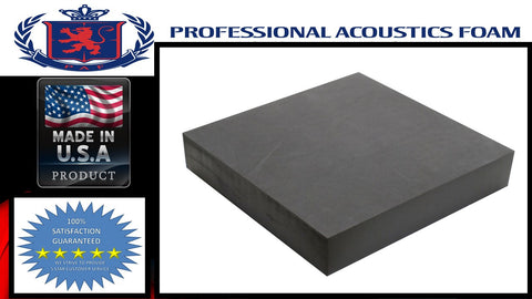 "UPHOLSTERY FOAM Professional Acoustics Foam 6"" x24""x82"" Upholstery Rubber Foam Sheet Cushion (Seat Replacement, Foam Padding) Charcoal"