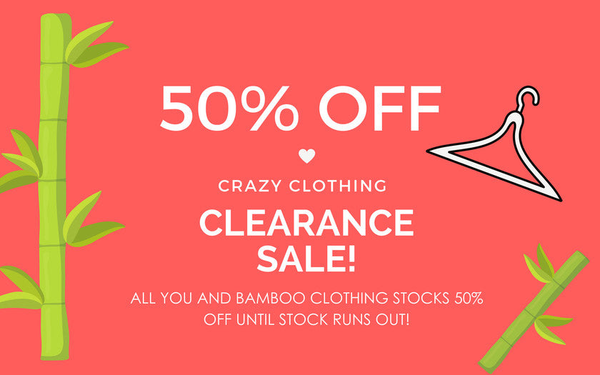 CLEARANCE BAMBOO CLOTHING