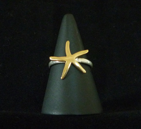 Gold Seastar and Silver Ring