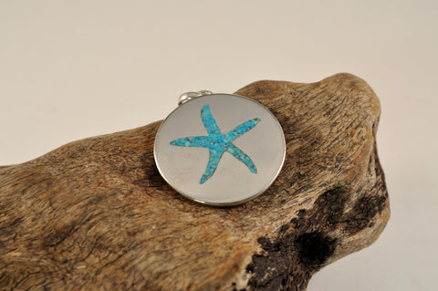 Torquoise Inlay Seastar Pendant