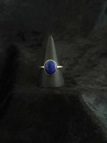 Lapis Lazuli Gold and Silver ring