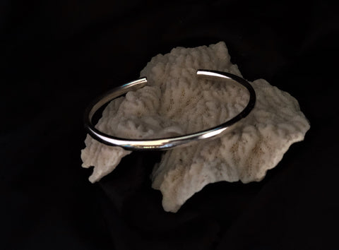 Silver Solid Bangle