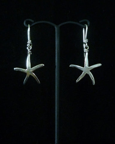 Seastar Silver Dangle Earrings