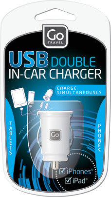 Go Travel USB In-Car Charger