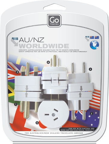 Go Travel Worldwide Double Adaptors