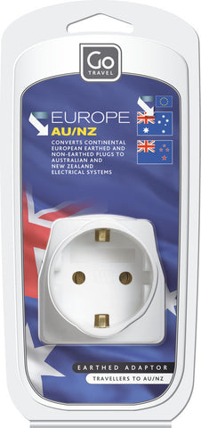 Go Travel Eurpoean To Australia/New Zealand Visitor Adaptor Plug