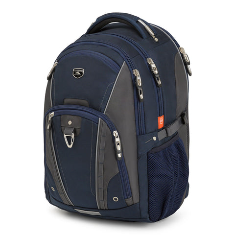 "High Sierra Vuna Navy/Silver 17"" Backpack"