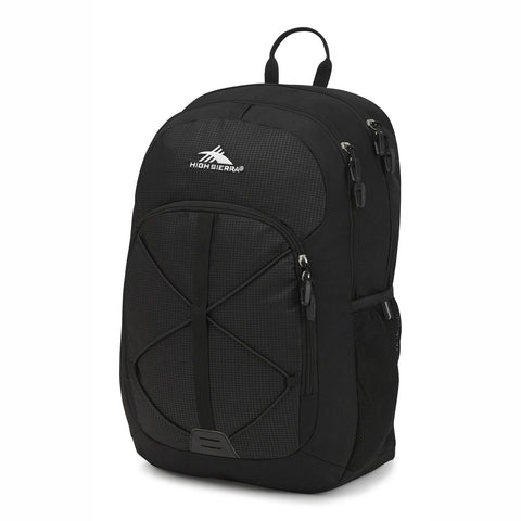 High Sierra Daio Black Backpack