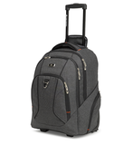 "High Sierra Endeavour Wheeled 15"" Laptop Backpack Heather Grey"
