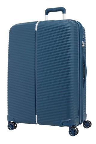 Samsonite Varro Extra Large 81cm Expandable Peacock Blue Hard Suitcase