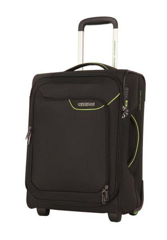 American Tourister Applite 4.0 Security Cabin/Carry On 50cm Black/Green Soft Suitcase