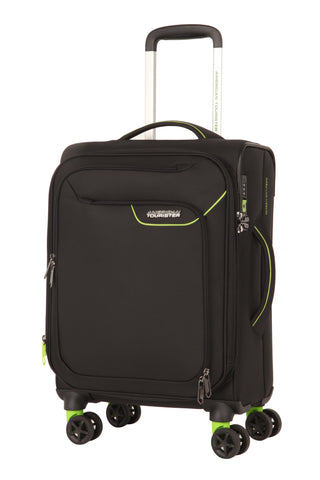American Tourister Applite 4.0 Security Cabin/Carry On 55cm Black/Green Suitcase