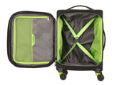 American Tourister Applite 4.0 Security Large 82cm And Cabin/Carry On 55cm Black/Green Soft Suitcase Set