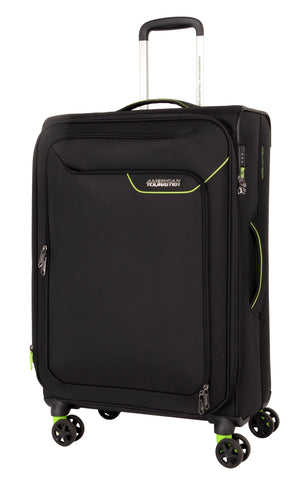 American Tourister Applite 4.0 Security Medium 71cm Black/Green Suitcase