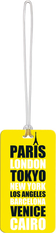 Go Travel Tag Me Pattern Luggage ID Tags