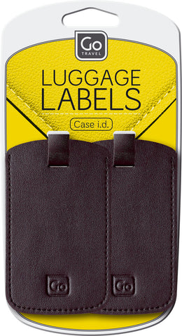 Go Travel Luggage Labels Black