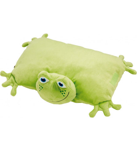 Go Travel Froggie Foldable Green Pillow