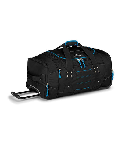 High Sierra Ultimate Access 66cm Black/Blue Wheeled Duffle