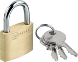 Go Travel Brass Key And Lock